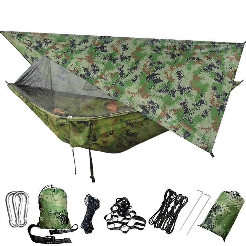 Hamaca de Camping mosquitera-Red al aire libre Backpacking árbol-correas de viaje senderismo playa portátil
