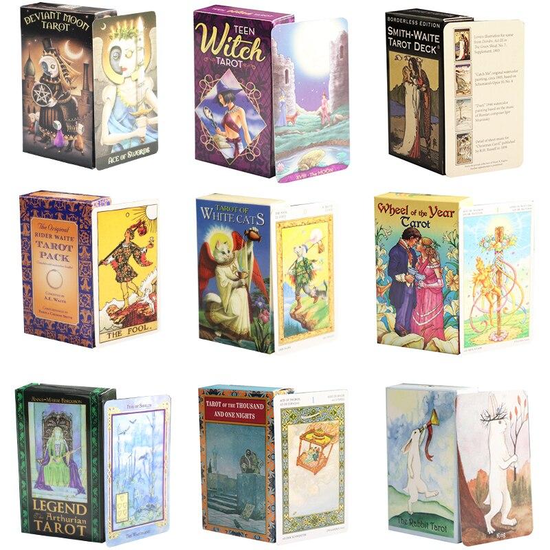 Карта Таро для игр, персональное гадания, карточка с принтом «Оракул», настольная игра, классический высококачественный солитер, английска...