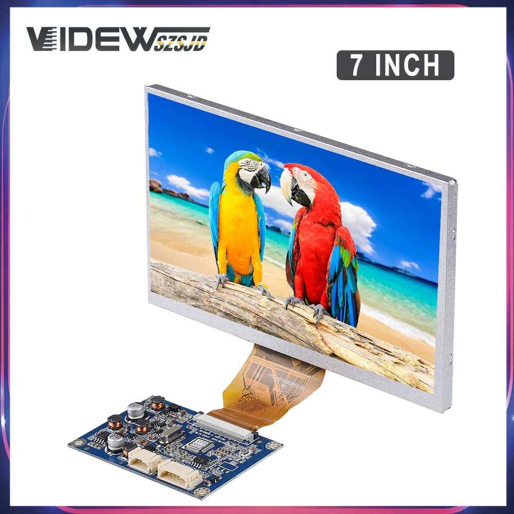 7 Inch Lcd Screen Portable Monitor Display 1024X600 Module Kit For Gate Control Unit Recreational Machines Drop Shipping