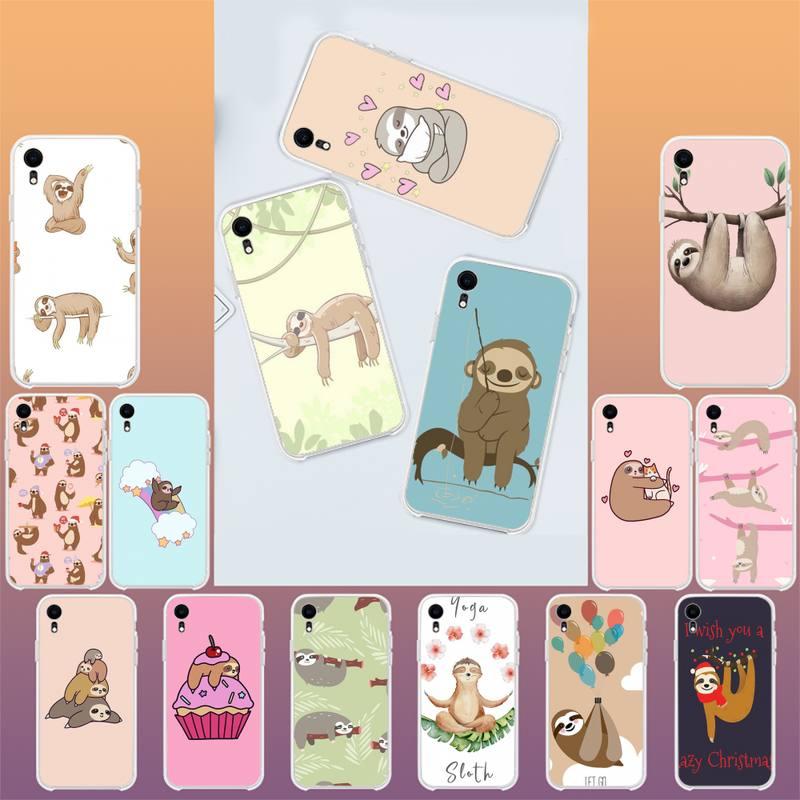 YNDFCNB pereza animales funda de teléfono de lujo para iPhone X XS X MAX 11 11 pro max 6 6s 7 7plus 8 8Plus 5 5S XR SE 2020