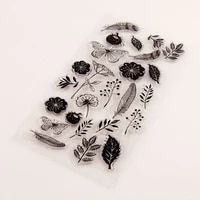 transparent silicone clear stamp vintage butterfly flower for scrapbooking diy craft decoration soft stamp kids stationery