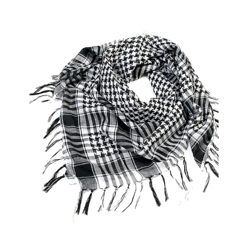 100x100cm Outdoor Hiking Scarves Military Arab Tactical Desert Scarf Army  with Tassel for Men Women