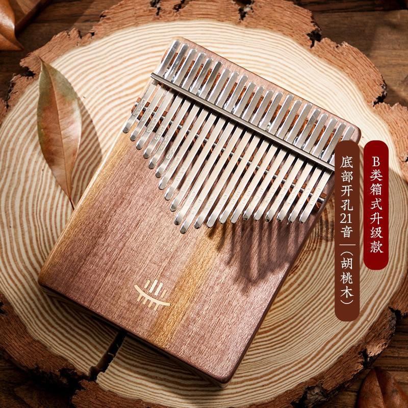 Hluru Kalimba 17 Key Instrument Full Solid Wood Thumb Piano 21 Key Kalimba Musical Professional Mbira Acacia For Beginners enlarge