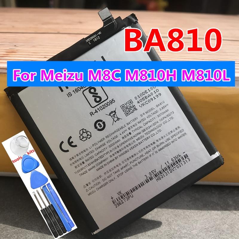 Original 3070mAh BA810 Replacement Batteries For Meizu M8C M 8C M810H M810L Smartphones Mobile Phone Battery недорого
