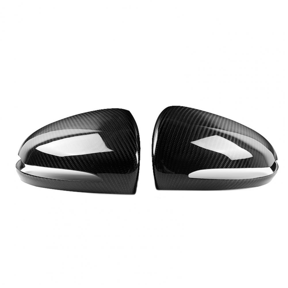 2Pcs Carbon Fiber Auto Right Side Mirror Cover Case Car Accessory for Benz 15-19 W222 S550 S600 S63