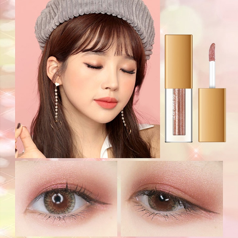 Women cosmetics glitter eye shadow palette liquid mini pigment single metallic eyeshadow pallette women makeup