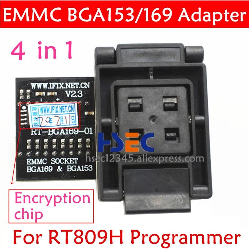 New Type RT 809H EMMC adapter RT-BGA169-01 V2.3 EMCP153 EMCP169 Socket BGA169 BGA153 BGA63 BGA64 BGA48 FOR RT809H programmer