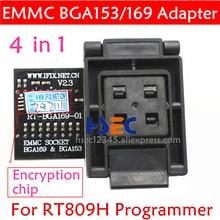 Novo Tipo RT 809H adaptador EMMC RT-BGA169-01 V2.3 EMCP153 EMCP169 Tomada BGA169 BGA153 BGA63 BGA64 BGA48 PARA RT809H programador