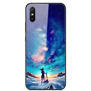 Glass Case For Xiaomi Redmi 9A Phone Case Phone Cover Phone Shell Back Bumper Series 2