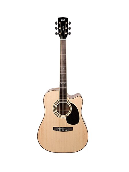 Ad880ce-nat guitarra electroacústica de serie estándar, con recorte, color natural, Cort
