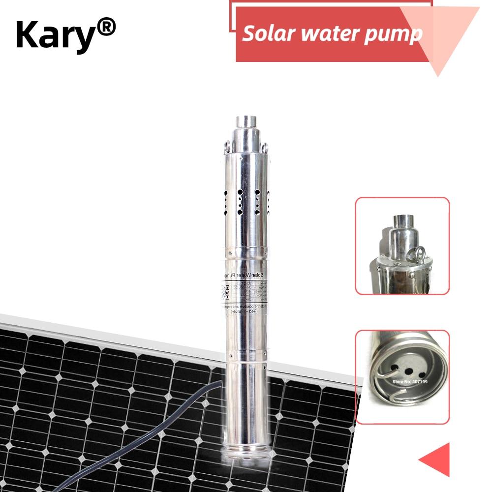 Bomba de agua sumergible de 120m 50 l/Min con controlador integrado de bomba de agua de estanque híbrido CC de 1 hp 24v dc lift