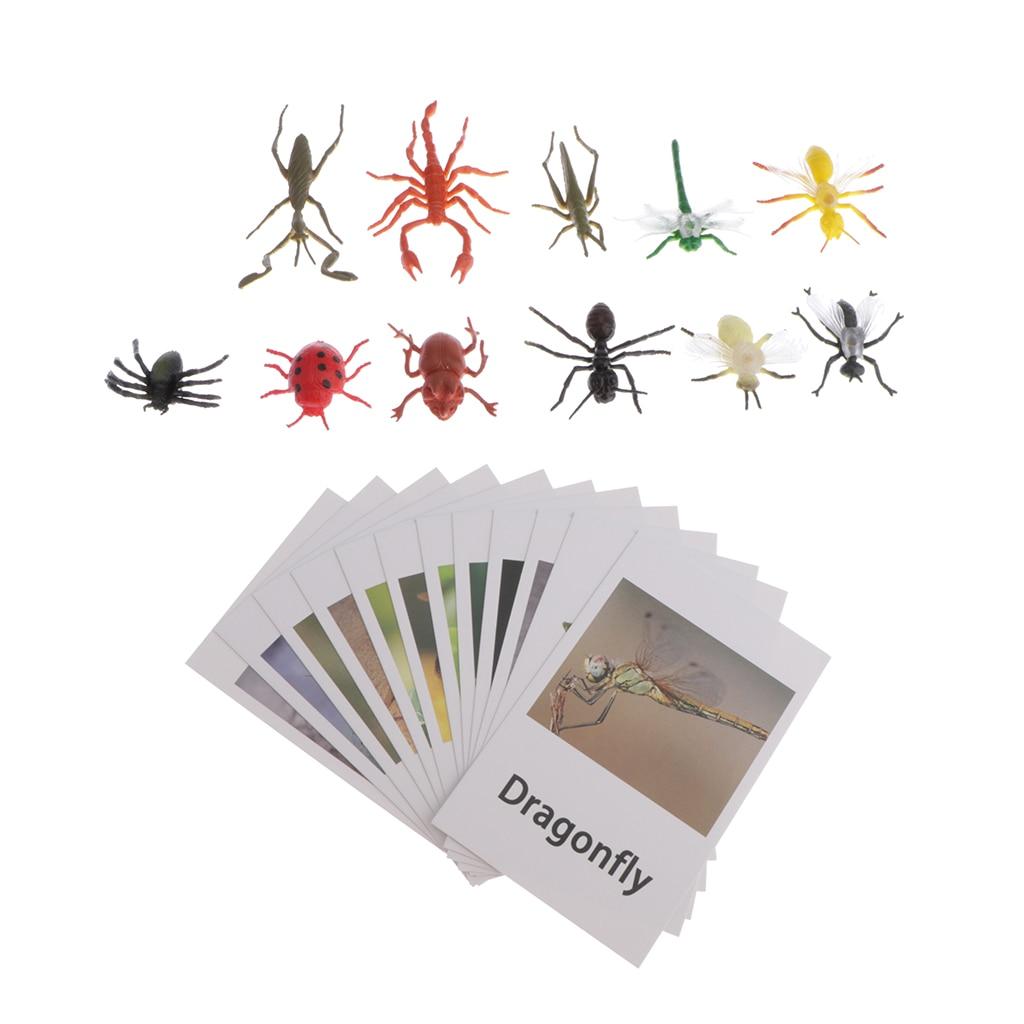 Обучающие материалы Монтессори-12 шт. миниатюрных насекомых, Набор фигурок