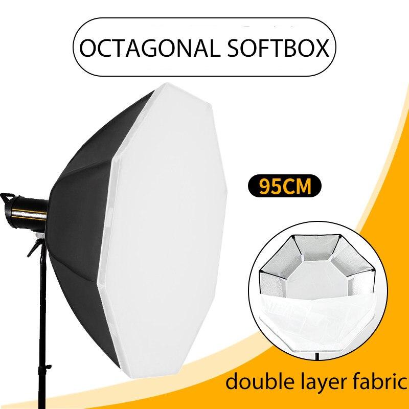 BEIYANG التصوير المثمن سوفت بوكس عدة إضاءة 95 سنتيمتر المهنية نظام إضاءة مستمرة لينة صندوق لمعدات استوديو الصور