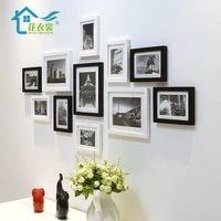 wood photo frame set modern gallery display gifts picture poster frames office bedroom ramki na zdjecie home decoration df50xk