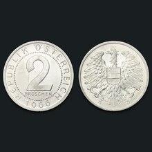 Österreich 2 Groschen Aluminium Münze 1966 100% Echt Original Münze Uncirculated Unc Sammeln Münzen