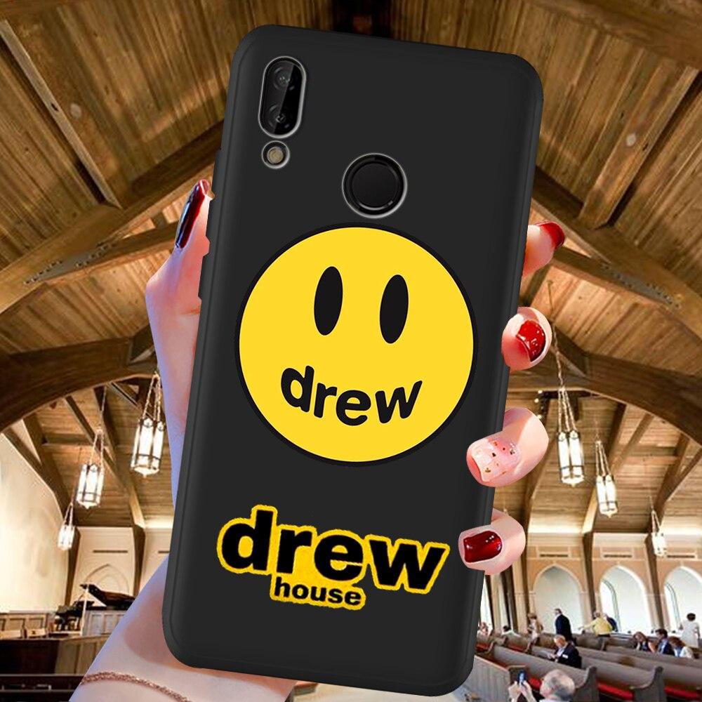 Carcasa de teléfono para Huawei P40 P30 Pro P20 P10 P8 Lite 2017 Mate 30 20 10 Lite Pro con cara sonriente de Justin Bieber