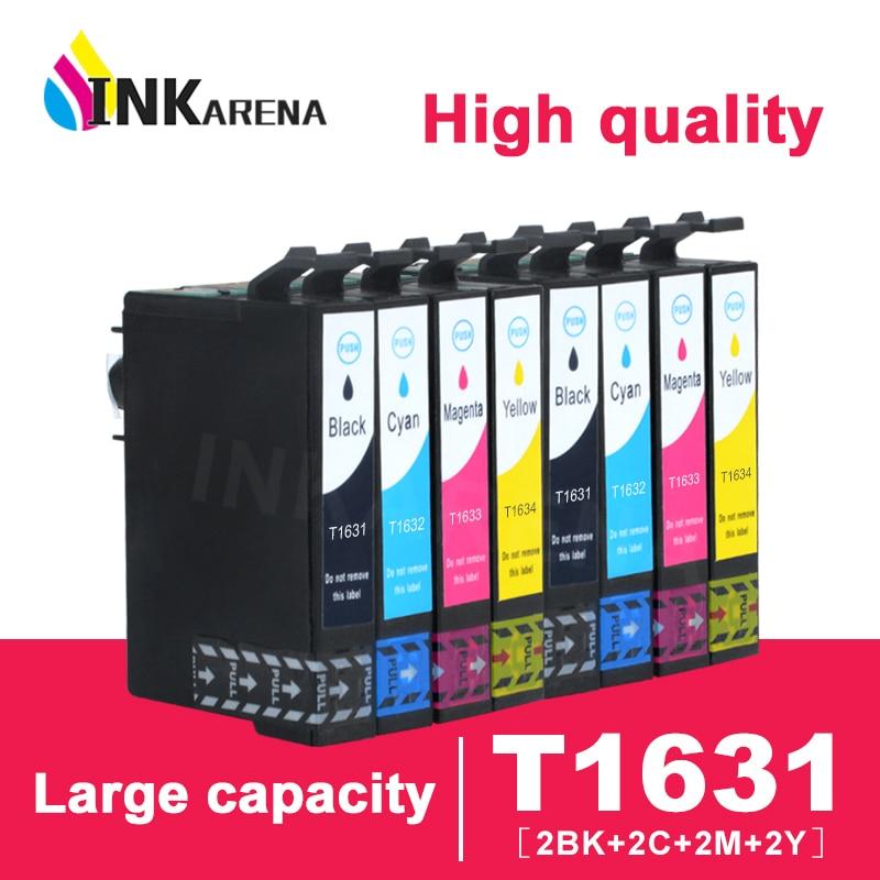 16XL cartucho de tinta Compatible T1631 para Epson WF2010 WF2510 WF2520 WF2530 WF2540 WF2630 WF2650 WF2760 WF2750 impresora