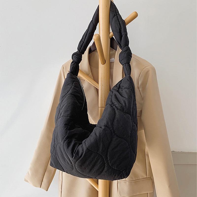 2021 Autumn Winter Shoulder Corssbody Bags for Women New Large Capacity Bag Zipper Fashion Wild Female Cotton Design Travel Bags
