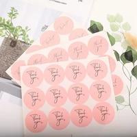 1200pcslot wholesale pink thank you label sealing heart adhesive sticker craft wrapping gift handmade diy 38mm free shipping