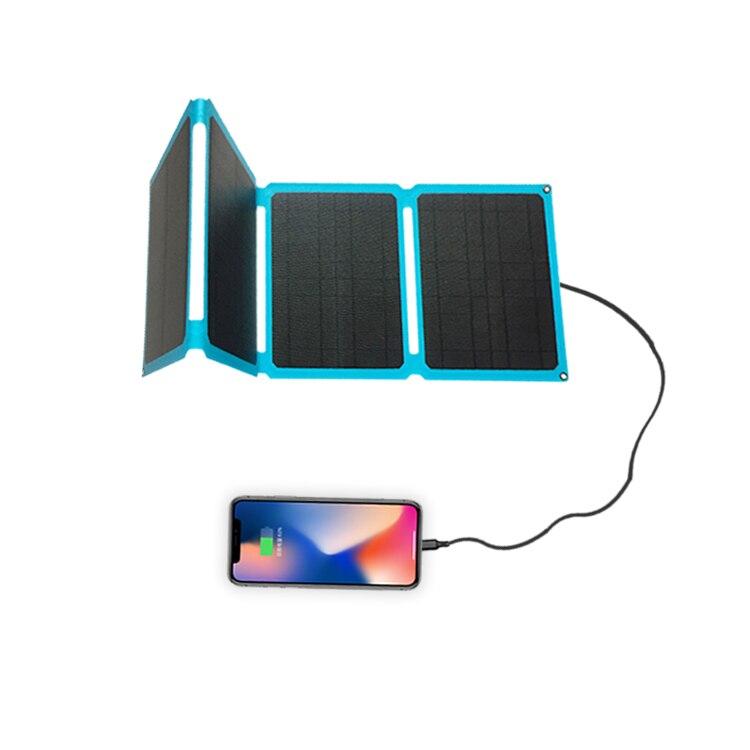 متعددة الأغراض المحمولة نوع-C شحن سريع 60 واط الشمسية شاحن للكمبيوتر المحمول