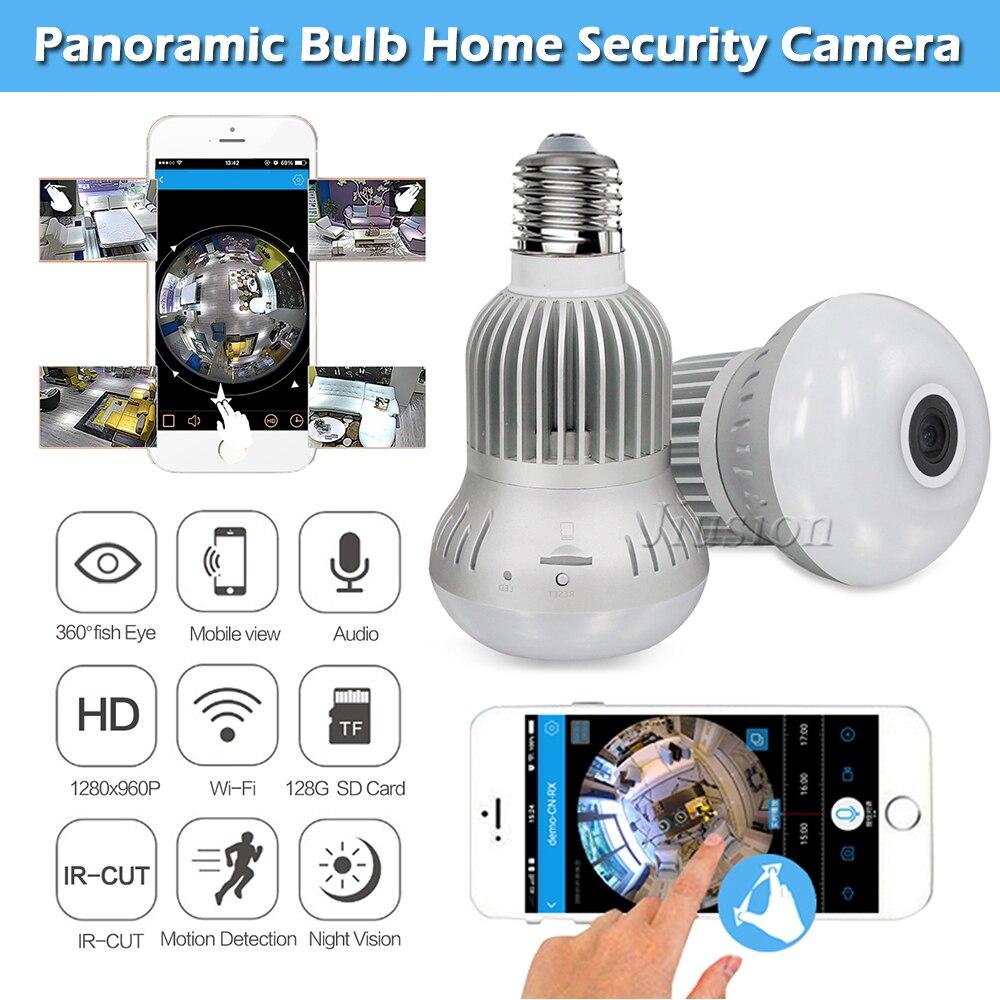 كاميرا صغيرة 360 واي فاي كاميرا فيديو للرؤية الليلية كاميرا لامبادا لمبة مايكرو كاميرا رقمية CCTV عمل IP الذكية Gizli تيليكاميرا