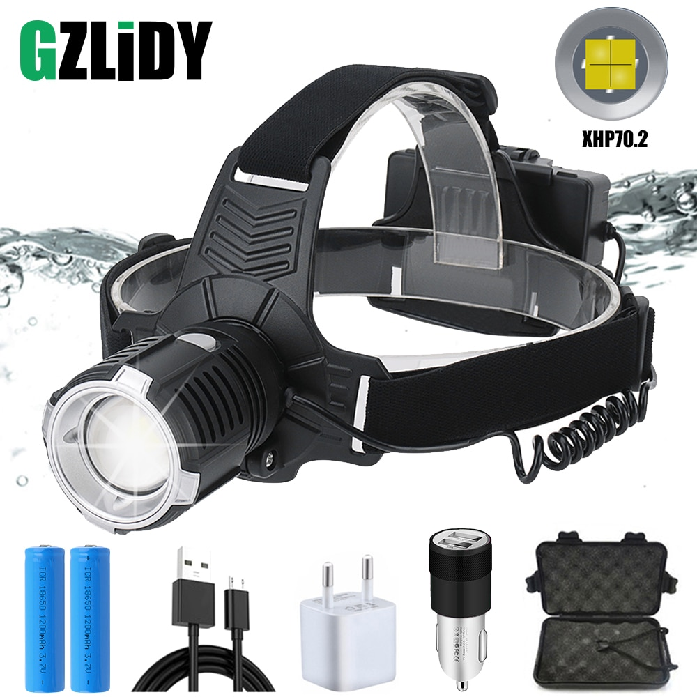 Linterna LED Ultra brillante Con 3 modos de luz LED de alta potencia 18650