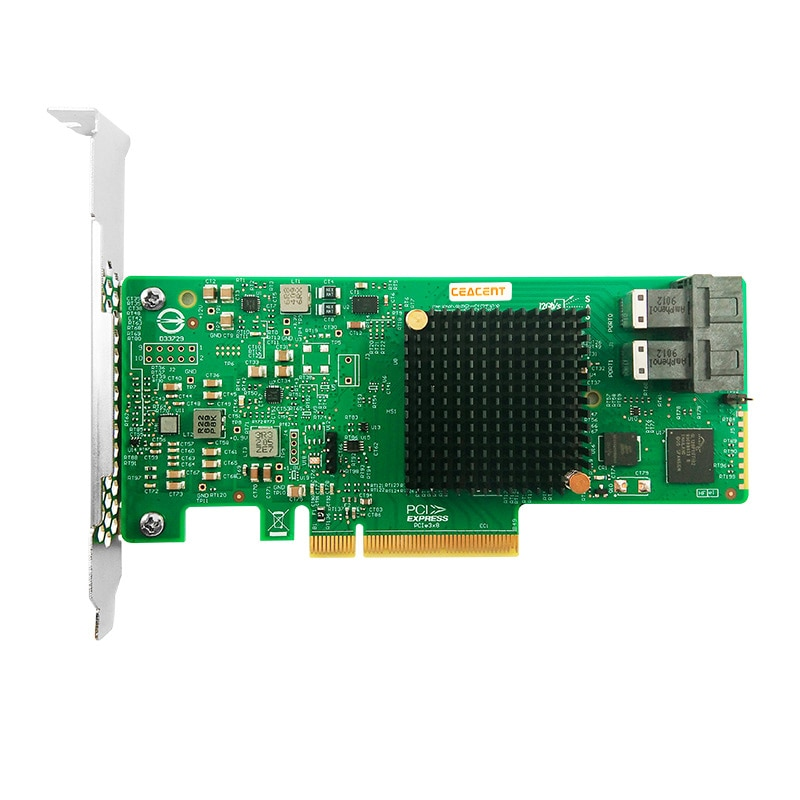 AS3008T 9300-8i PCI-Express 3,0 SATA / SAS 8-портовый SAS3 12 ГБ/сек. HBA SFF8643 * 2