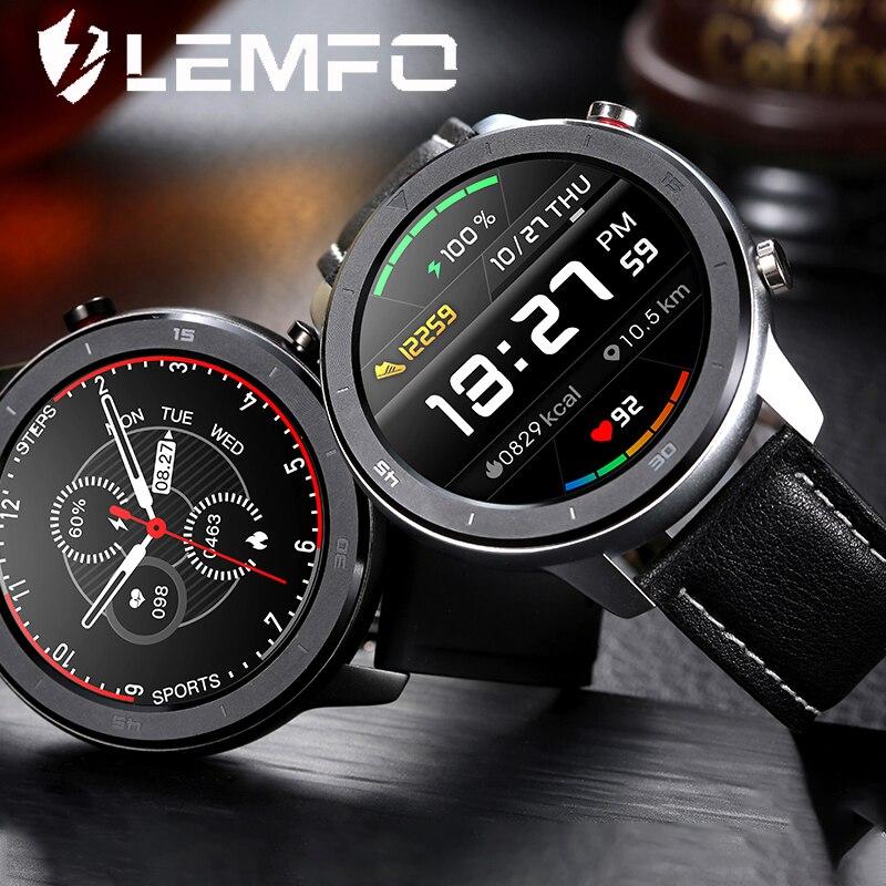 LEMFO DT78 Smart Watch Full Touch Round Smart Watch Men Retro Business IP68 Sport Watch for Men Bluetooth Control Health Tracker