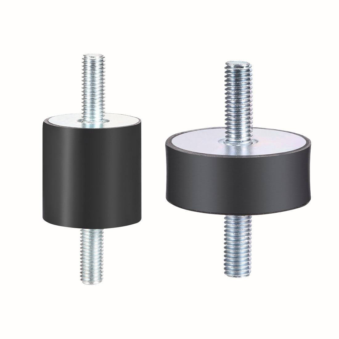 uxcell Rubber Vibration Isolator Mounts Shock Absorber 20mm 25mm 30mm 40mm 50mm 60mm Dia M6 M8  M10 M12 Thread with Studs