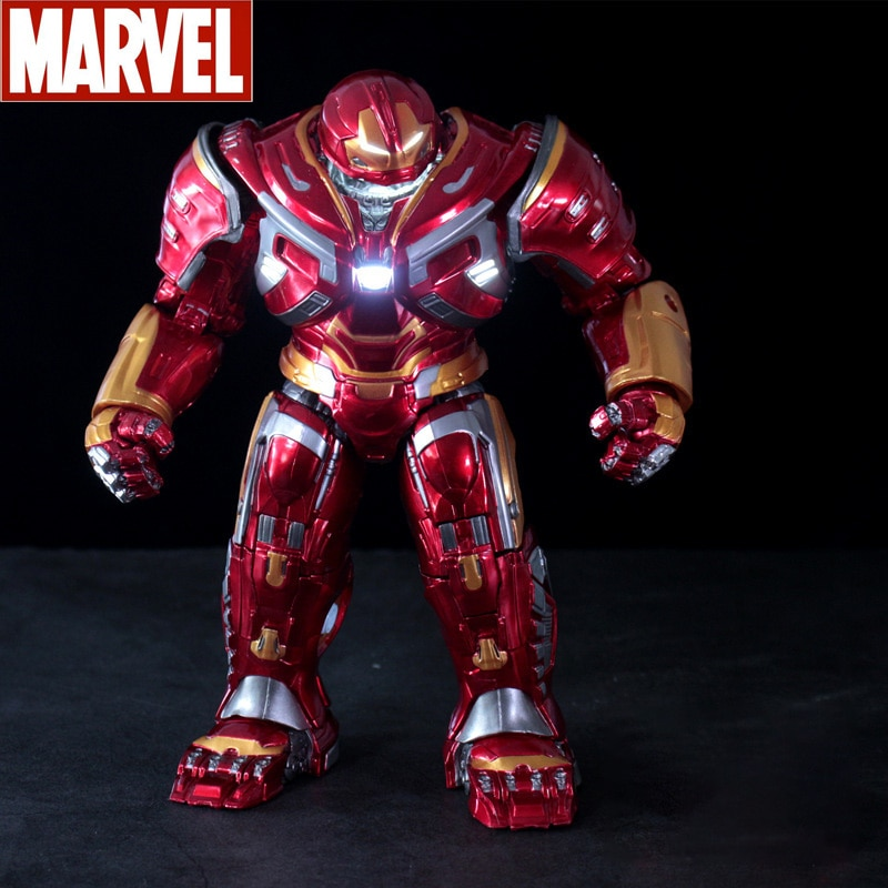 Marvel The Avengers Iron Man Glowing Hulkbuster Armor Model Super Hero Action Figure Collection Model Statue Toys For Children's