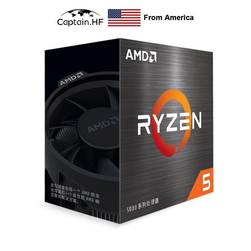 US Captain AMD Ryzen R5 5600X 6-Core, 12-Thread Unlocked Desktop Processor with Wraith Stealth Cooler Boxed