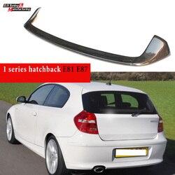 Para bmw série 1 2004 - 2011 (1st geração 2-box) e87 (5-door) e81 (3-door) fibra de carbono janela do telhado traseiro spoiler asa do carro