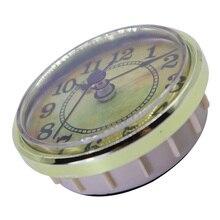70mm cadran noir arabe chiffre Quartz horloge insérer mouvement avec garniture dorée