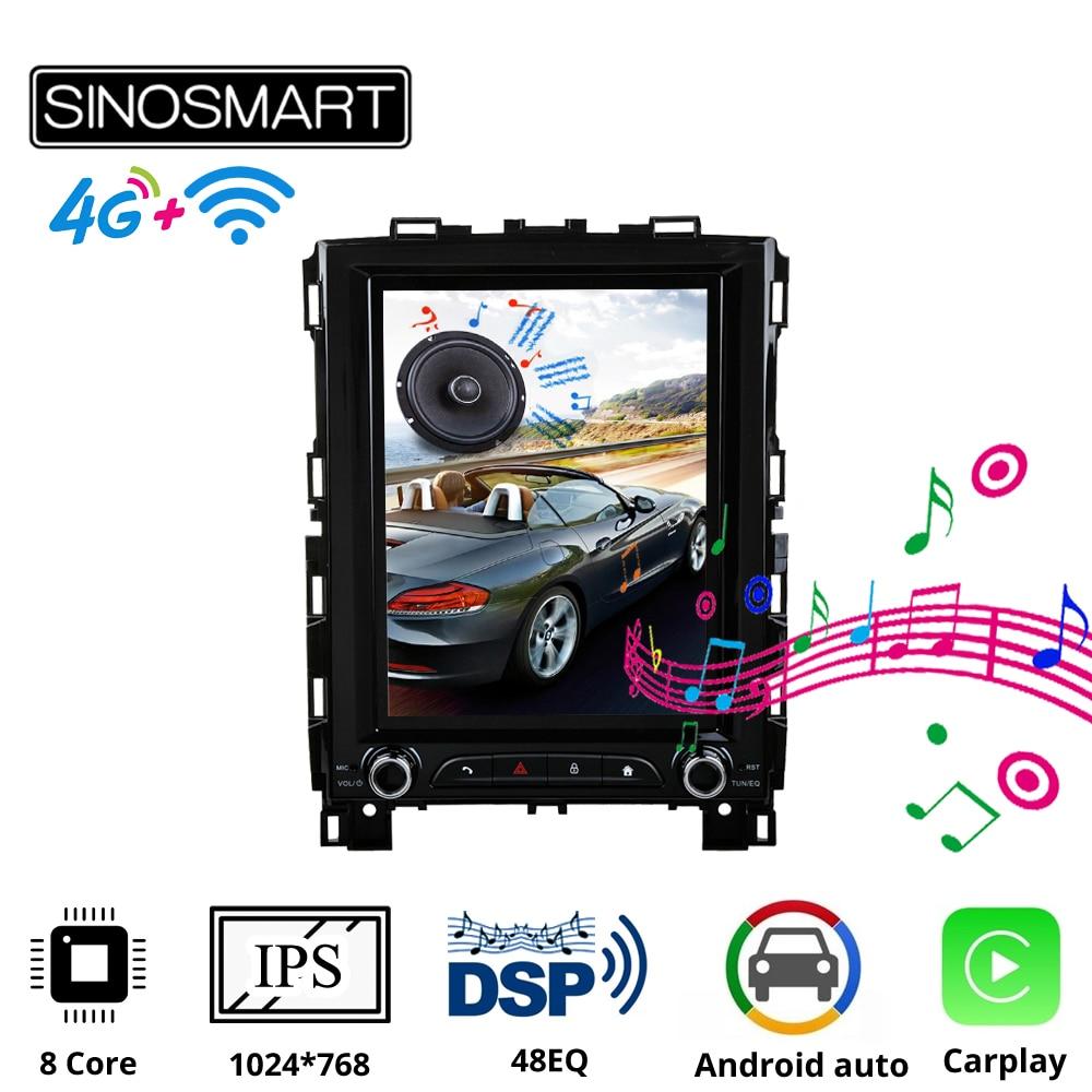 Sinosmart Tesla Style Car GPS Navigation Player for Renault Megane 4 Radio Samsung Koleos