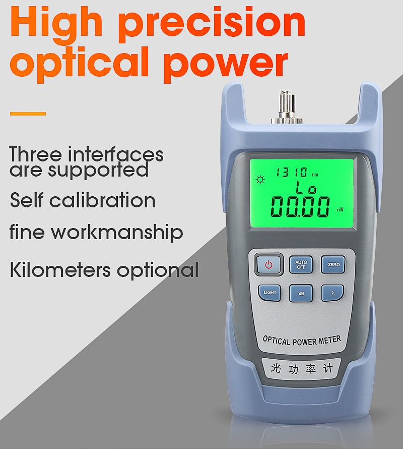 FTTH Fiber Optic Optical Power Meter Cable Tester Networks FC/SC connectors -70~+10dBm enlarge