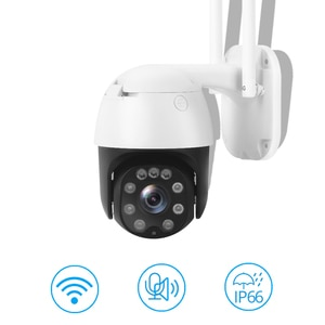 SECUEYE 1080P Dome IP Camera WiFi Pan/Tilt/Zoom 30M Night Vision AI Automatic Tracking 2-Way Audio IP65 Weatherproof ONVIF