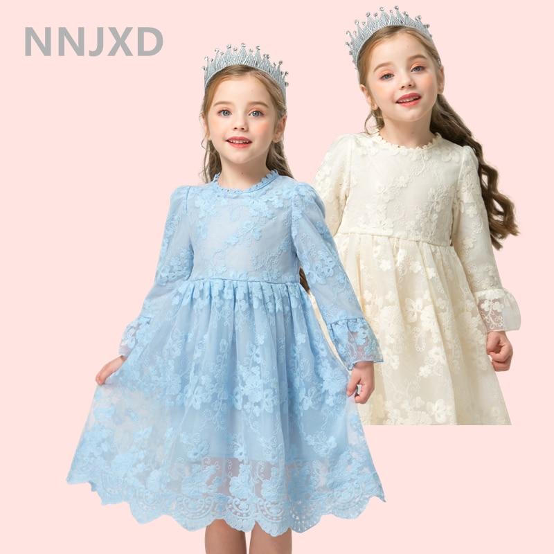 Princesse dentelle robe de broderie pour fille robe de bal anniversaire élégant enfants vêtements enfants robes pour filles 3-8 ans Vestidos