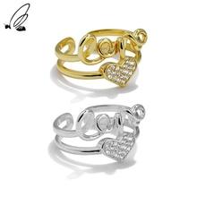 S'STEEL Sterling Silver 925 Zircon Ring Hollow Minority Gift For Women Minimalist Wedding Adjustable