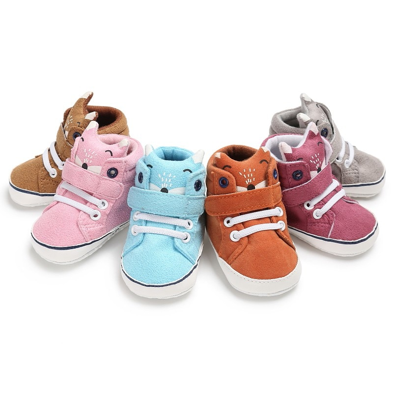 Baby Girl Shoes First Walkers Canvas Baby Shoes Cute Animal Baby Spring Autumn Sports Leisure Fashion Baby Shoes