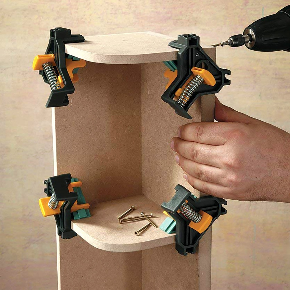 90 Degree Right Angle Clamp Fixing Clips Picture Frame Corner Clamp Woodworking Hand Tool furniture