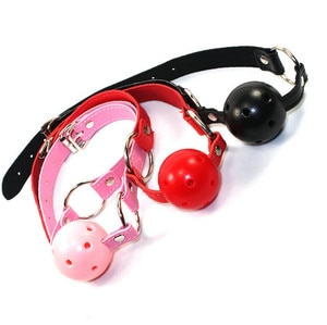 Couple Leather Silicone Gag Ball BDSM Bondage Restraints Sex Ball Harness Strap Gag Sex Toy For Women Accessories