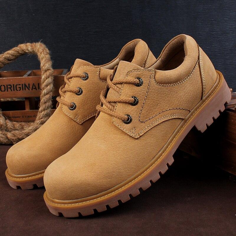 أحذية مارتنز من الجلد الطبيعي للرجال ، أحذية رياضية عالية الجودة ، غير رسمية ، منصة ، عمل ، أنيقة ، مجموعة جديدة