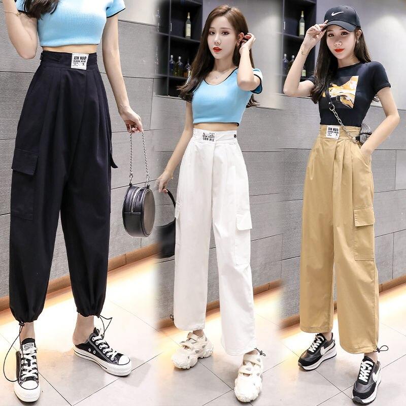 Женские спортивные брюки Pantalones Mujer Cintura Alta, повседневные брюки с эластичной резинкой на талии для похудения на лето 2020