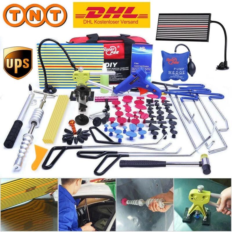 Pdr Spring Steel Rods Dent Puller Lifter Glue Sticks Tap Down Hammer Dent Ding Hammer Dent Repair Tools Kit Aliexpress