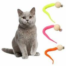 1 قطعة 2020 أحدث مضحك القط لعبة تفاعلية خدش الكرة ويغلي القط لعبة محاكاة دودة لعبة مع جرس للحيوانات الأليفة الحيوانات الأليفة الحيوان التموين