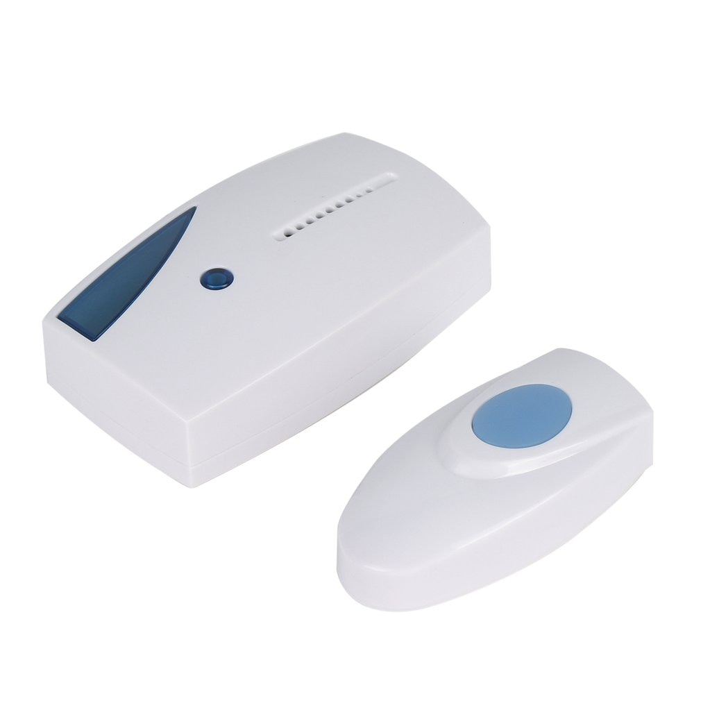 Wireless Doorbell 100m Range Cordless Music Door Bell With LED Light Remote Control Home Security Sy