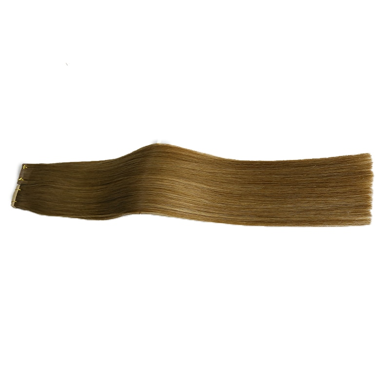 Toysww Tape in Human Hair Extensions Color 6 40pcs 18-24inch Double Drawn Virgin Human Hair High Quality For Salon