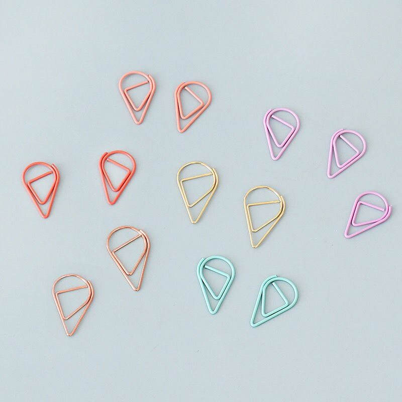 tutu-de-metal-con-forma-de-gota-50-piezas-clips-de-papel-de-color-kawaii-marcador-clip-papeleria-para-oficina-y-escuela-h0564