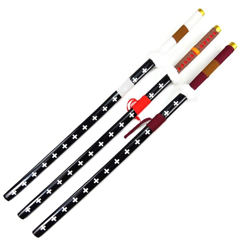 Arma de madera de 120cm, cuchillo samurái Sabre cirujano de la muerte, accesorios de juego de rol trafalgoro, juguetes para niños, regalo sin filo, espada