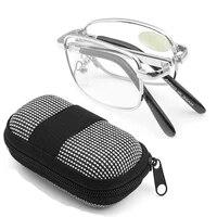 folding reading glasses with case men women rimless magnetic presbyopia eyeglasses spectacles 1 0 1 5 2 0 2 5 3 0 3 5